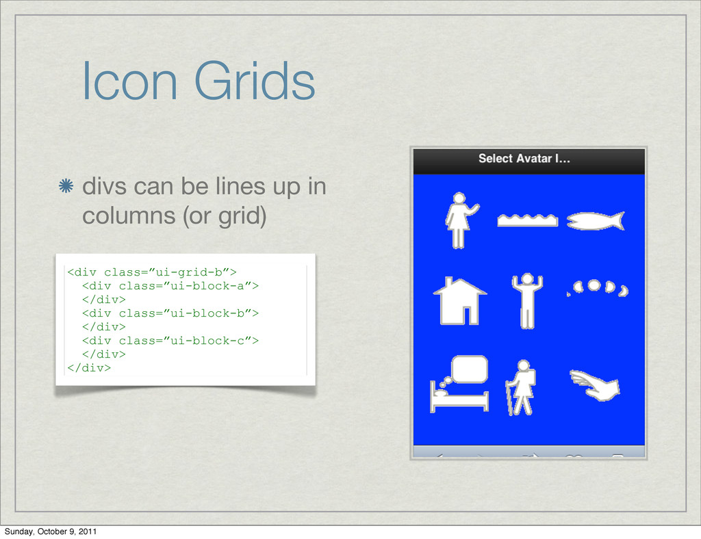 Icon Grids divs can be lines up in columns (or ...