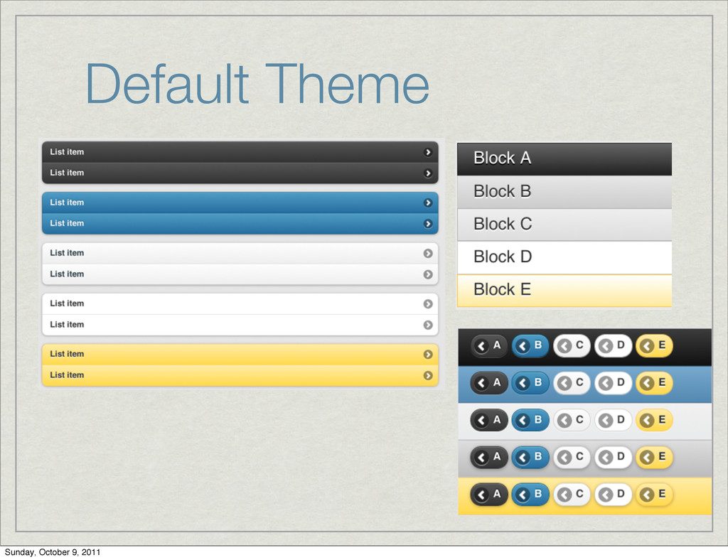Default Theme Sunday, October 9, 2011