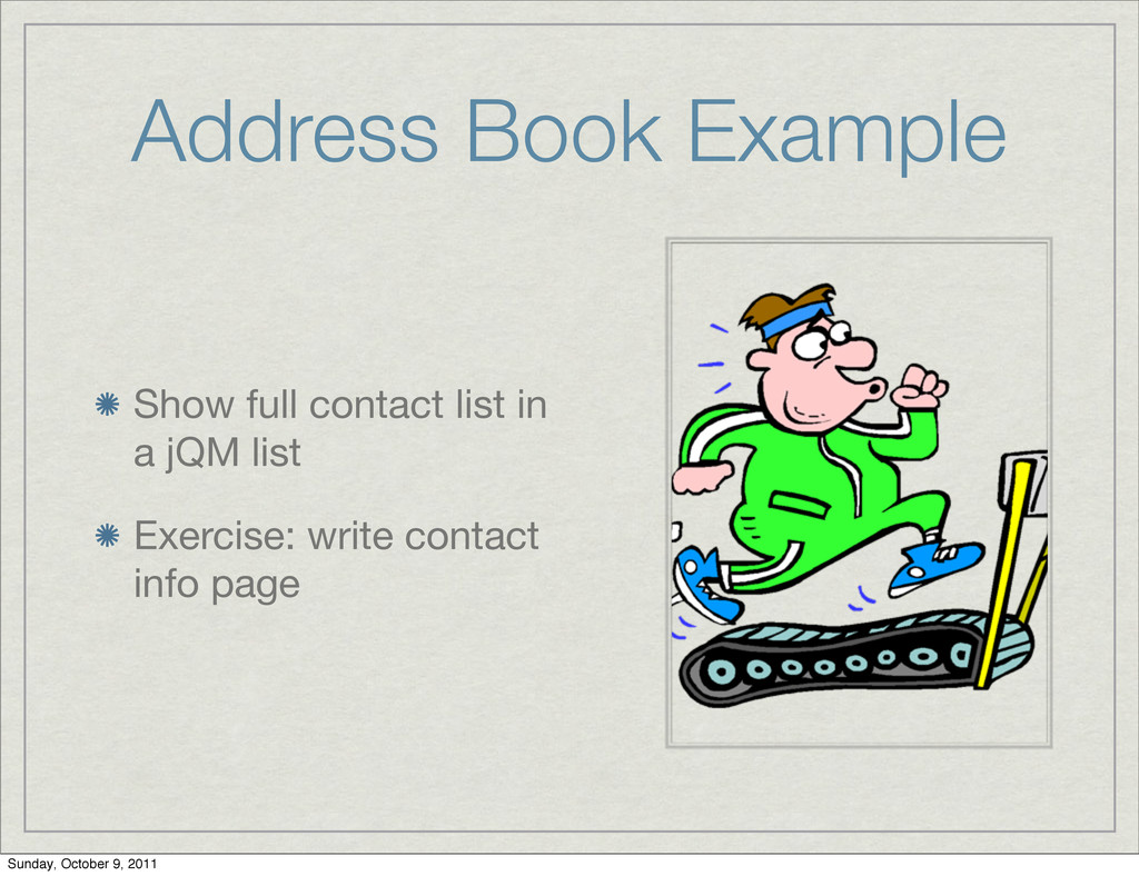 Address Book Example Show full contact list in ...