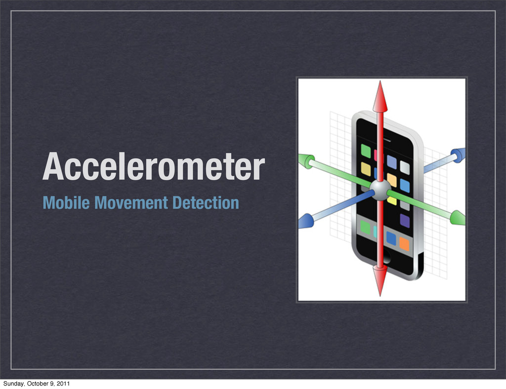 Accelerometer Mobile Movement Detection Sunday,...