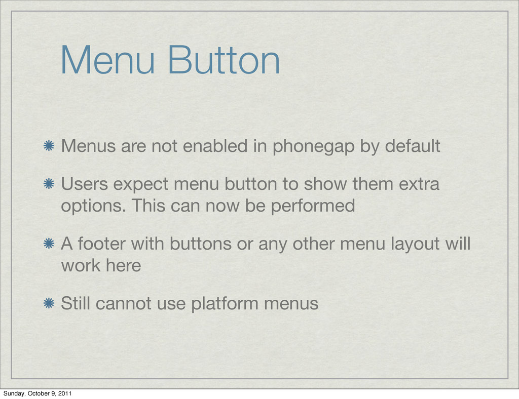 Menu Button Menus are not enabled in phonegap b...
