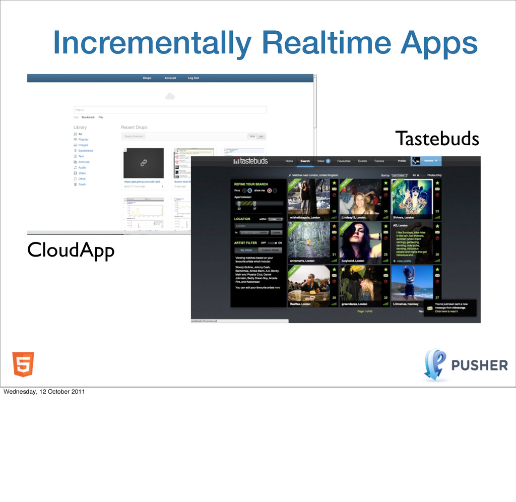 Incrementally Realtime Apps CloudApp Tastebuds ...
