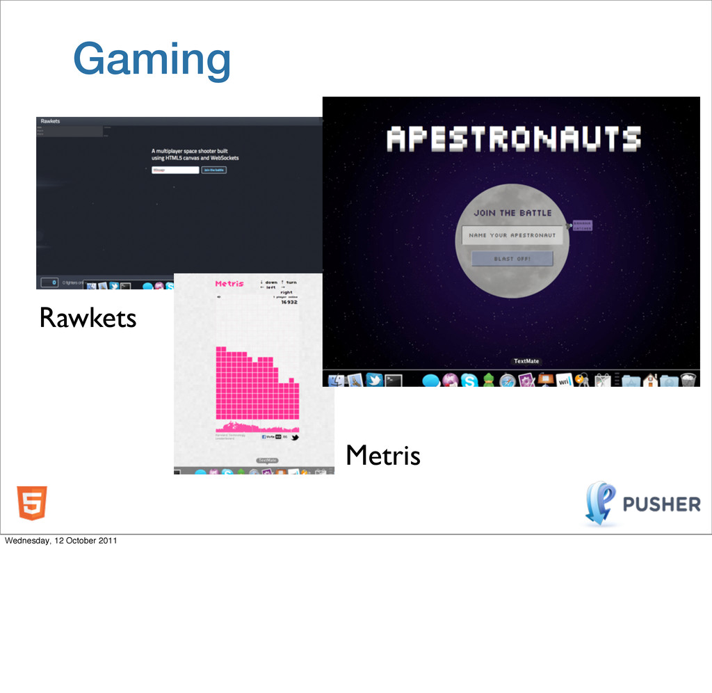 Gaming Rawkets Metris Wednesday, 12 October 2011