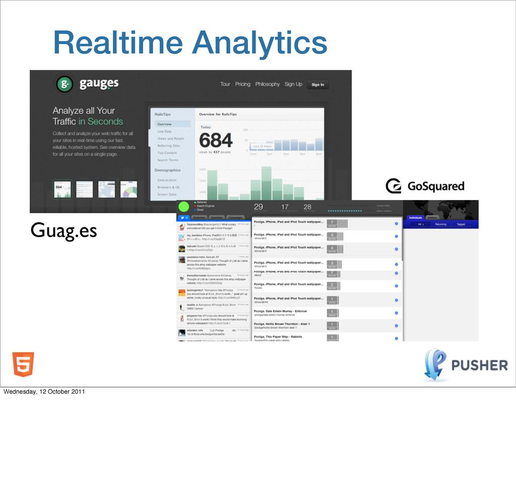 Realtime Analytics Guag.es Wednesday, 12 Octobe...