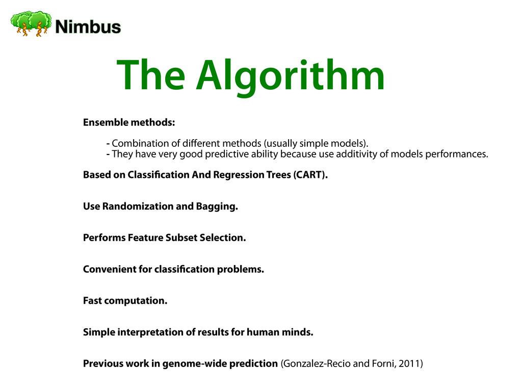 Ensemble methods: - Combination of diferent met...