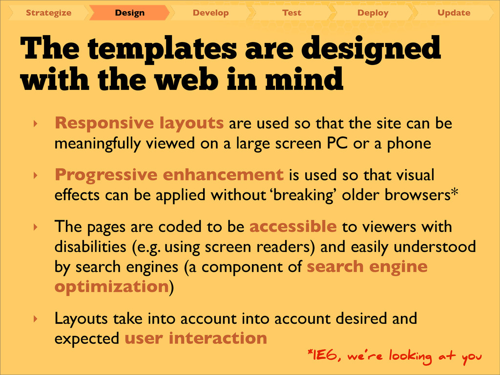 The templates are designed with the web in mind...