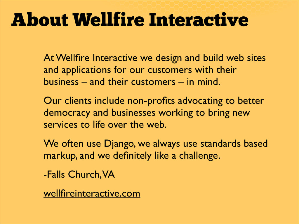 About Wellfire Interactive At Wellfire Interacti...