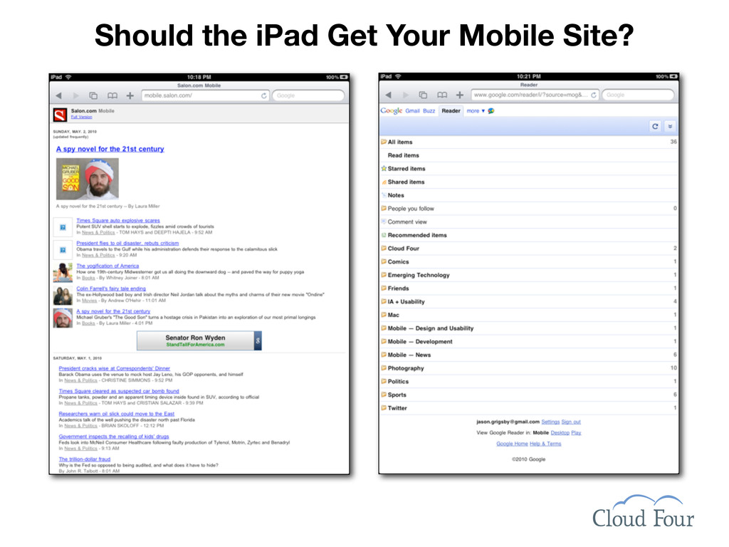 Should the iPad Get Your Mobile Site?