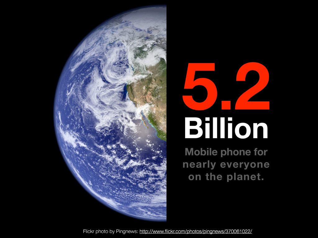 5.2 Billion Mobile phone for nearly everyone on...