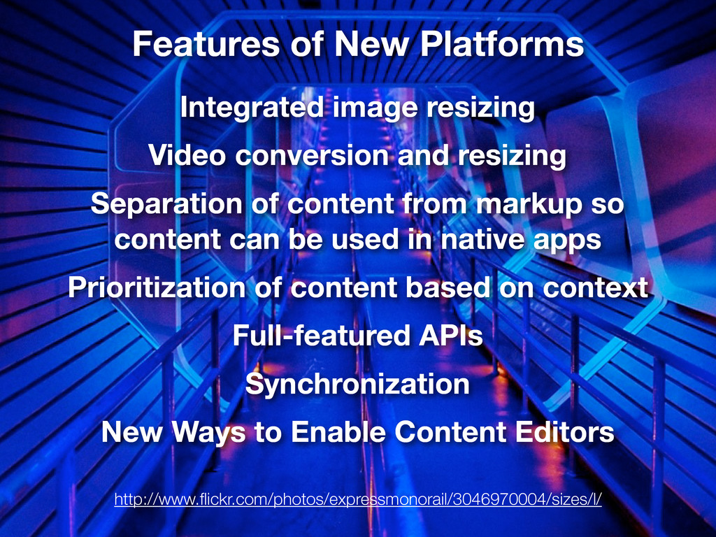 Features of New Platforms Integrated image resi...