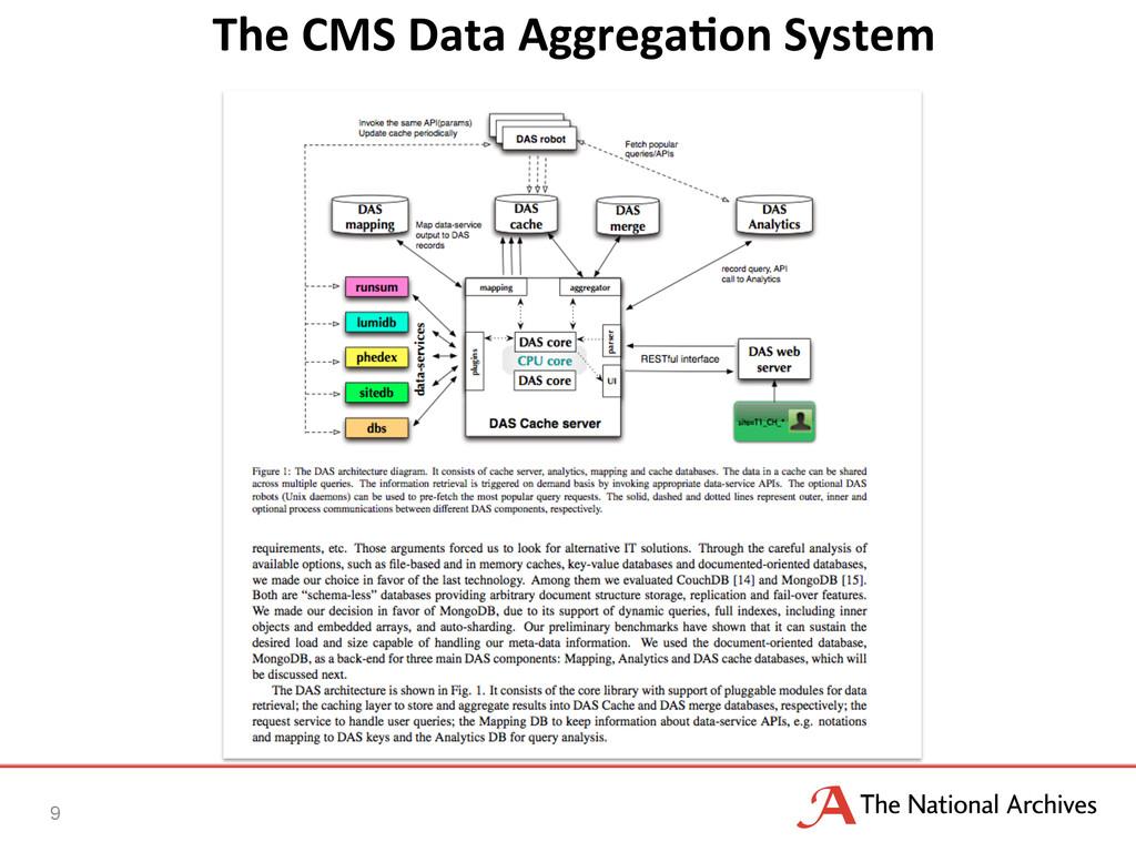 The CMS Data AggregaQon System  ...