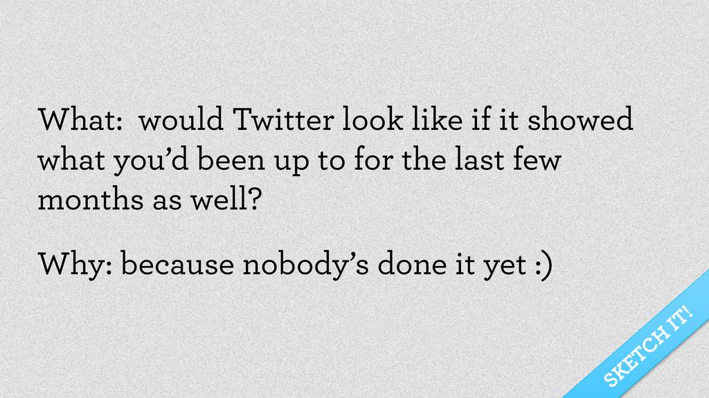 SKETCH IT! What: would Twitter look like if it ...