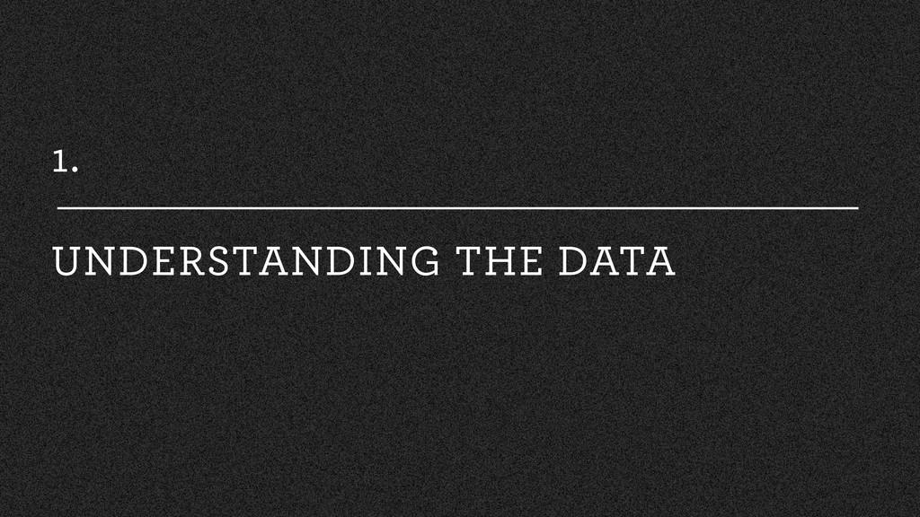 1. UNDERSTANDING THE DATA