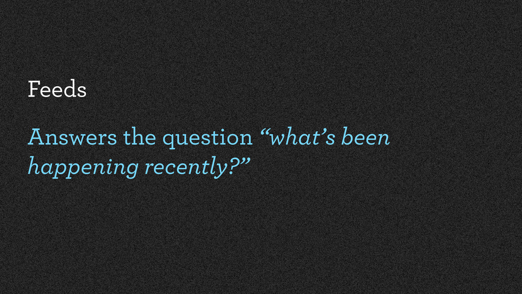 """Feeds Answers the question """"what's been happeni..."""