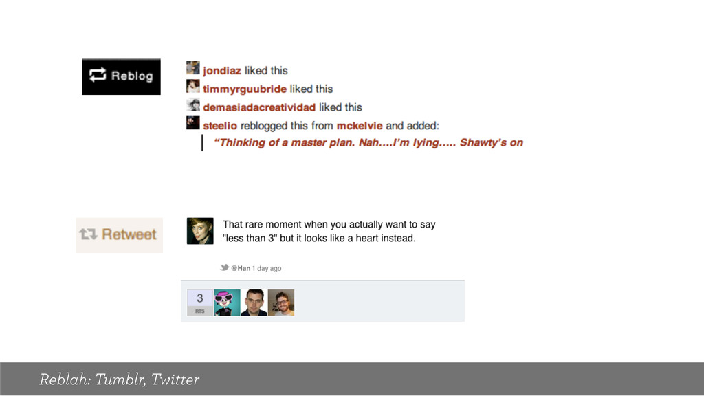 Reblah: Tumblr, Twitter