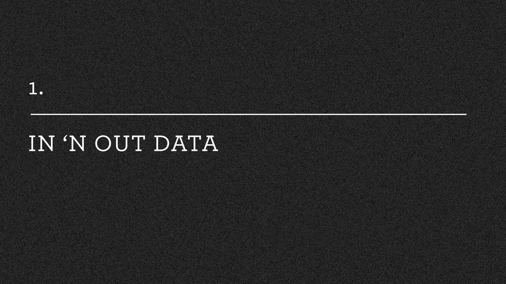 1. IN 'N OUT DATA