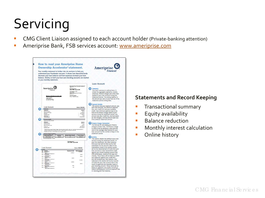  CMG Client Liaison assigned to each account h...