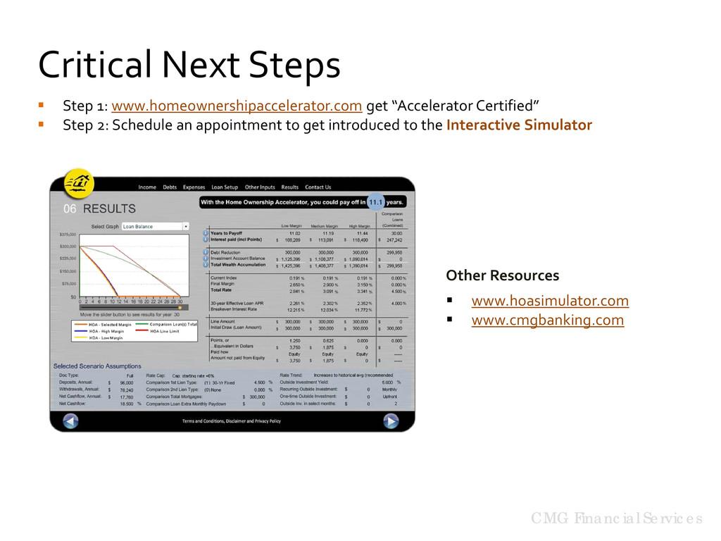 CMG Financial Services Critical Next Steps Othe...