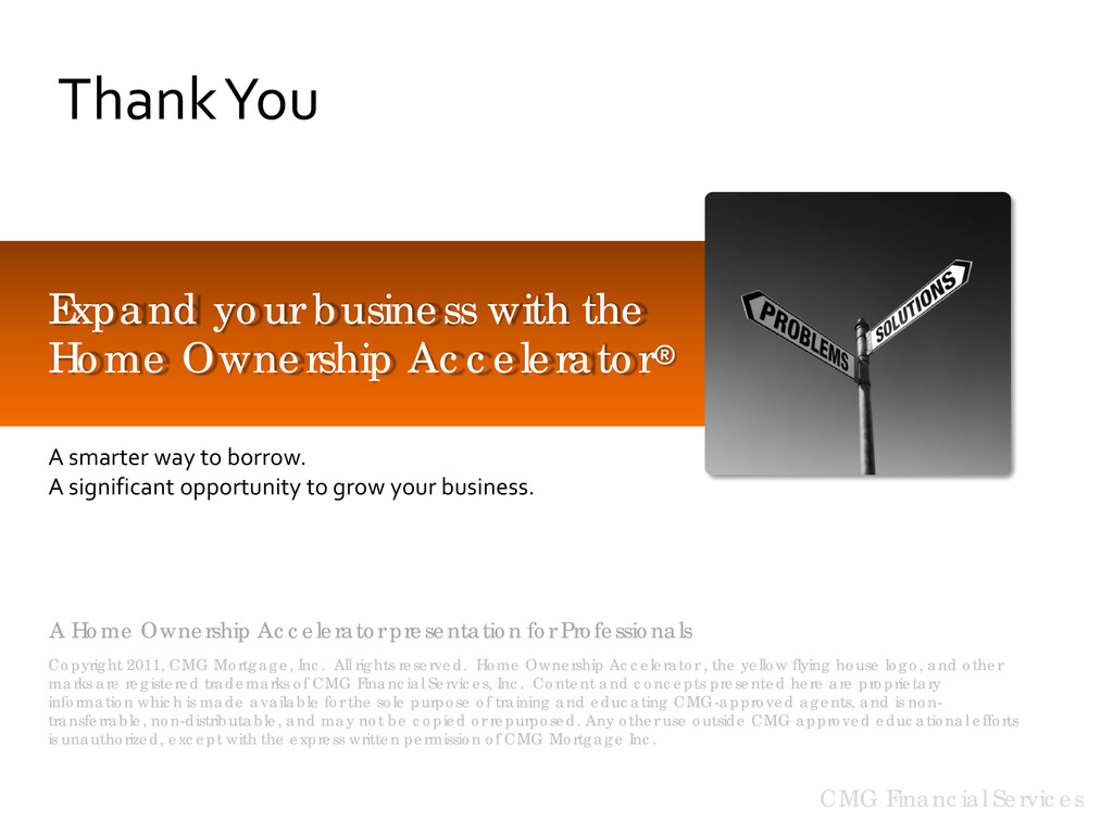CMG Financial Services Thank You Expand your bu...
