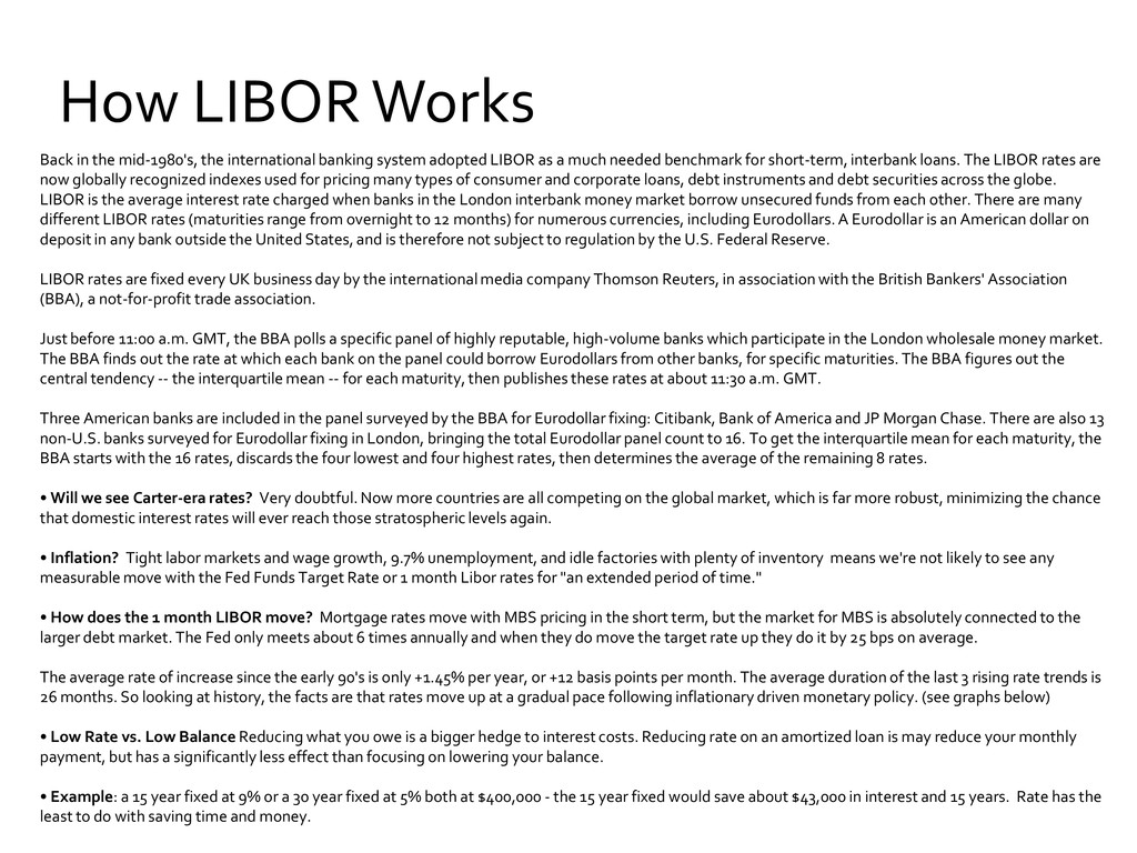 How LIBOR Works Back in the mid-1980's, the int...