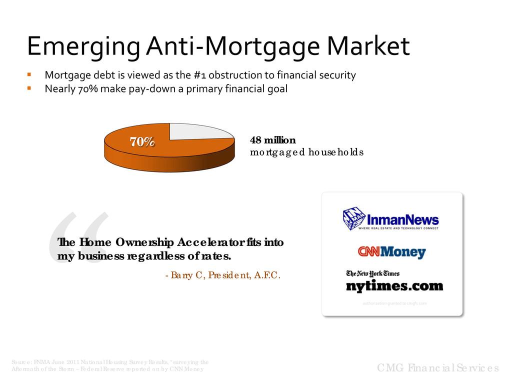 Emerging Anti-Mortgage Market CMG Financial Ser...
