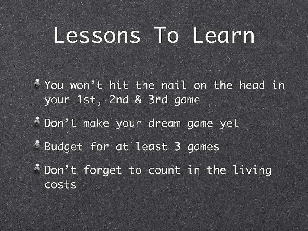 Lessons To Learn You won't hit the nail on the ...