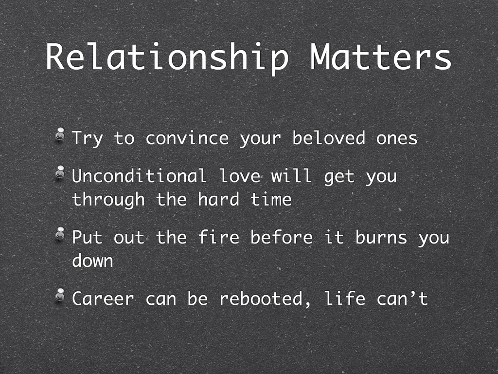 Relationship Matters Try to convince your belov...