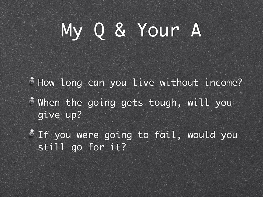 My Q & Your A How long can you live without inc...