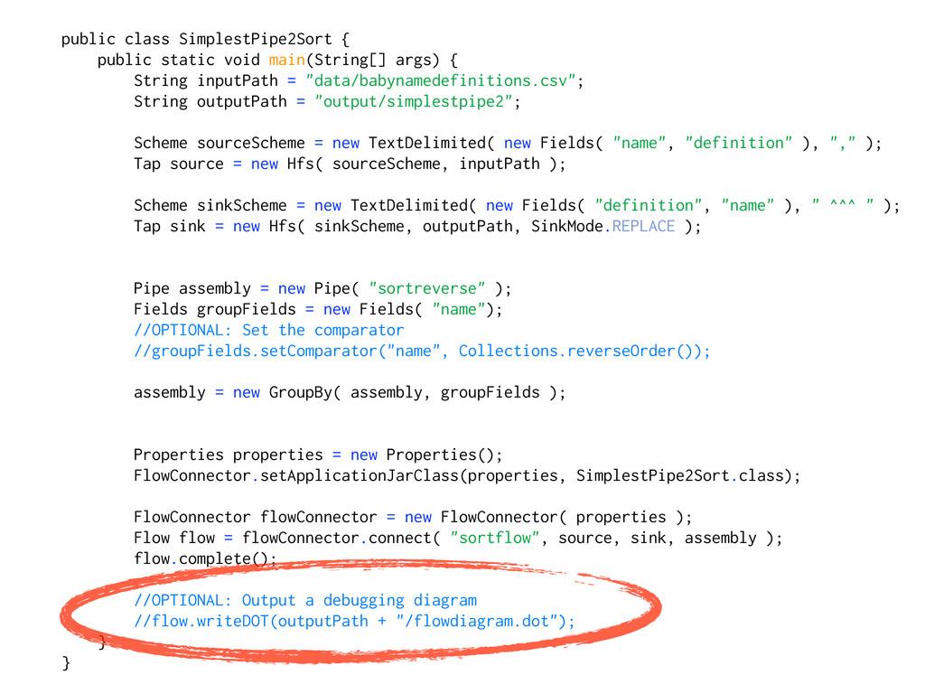 public class SimplestPipe2Sort { public static ...