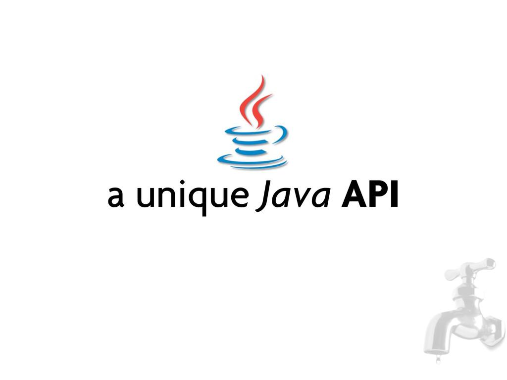 a unique Java API