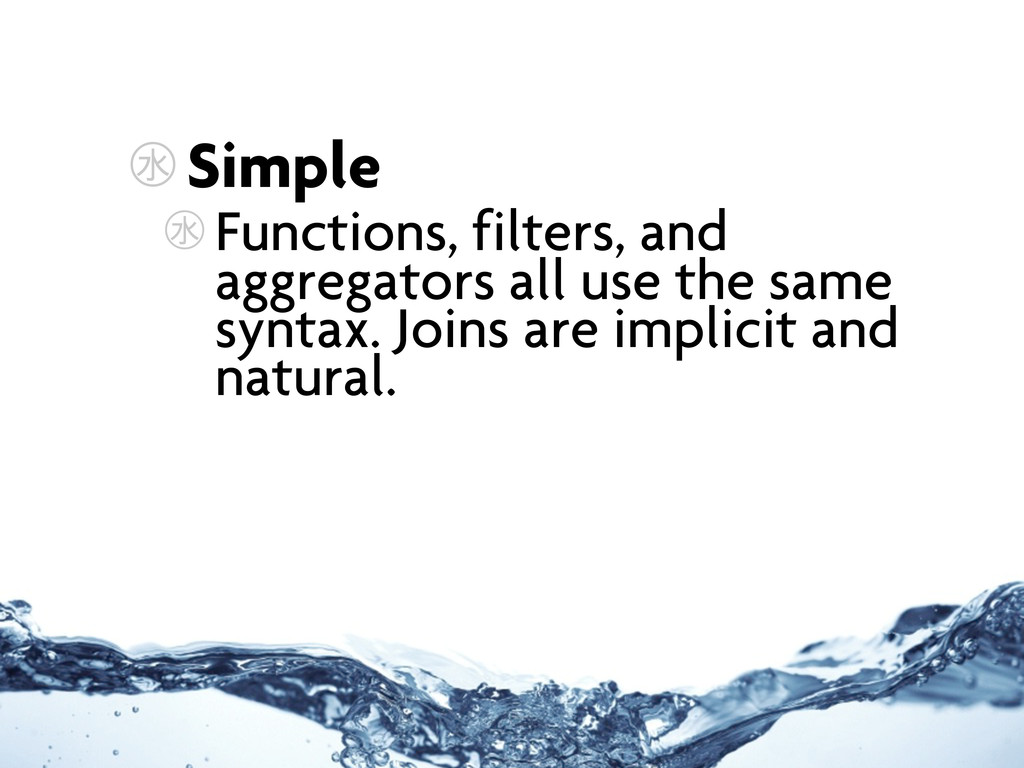 ㊌ Simple ㊌ Functions, filters, and aggregators ...