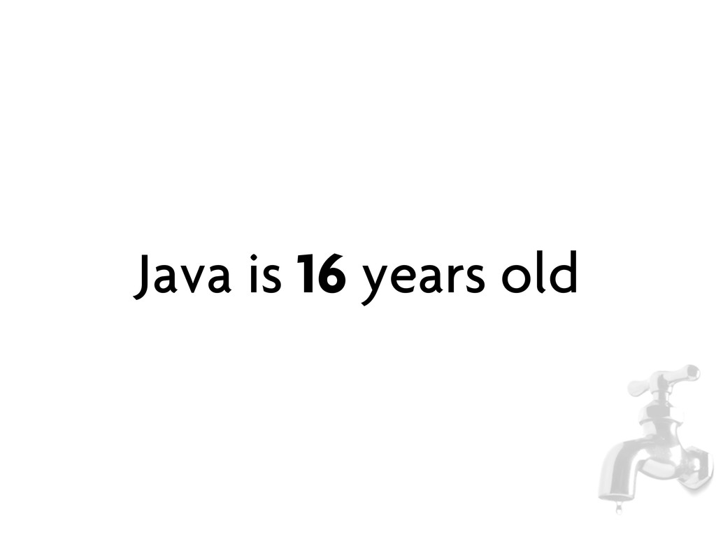 Java is 16 years old