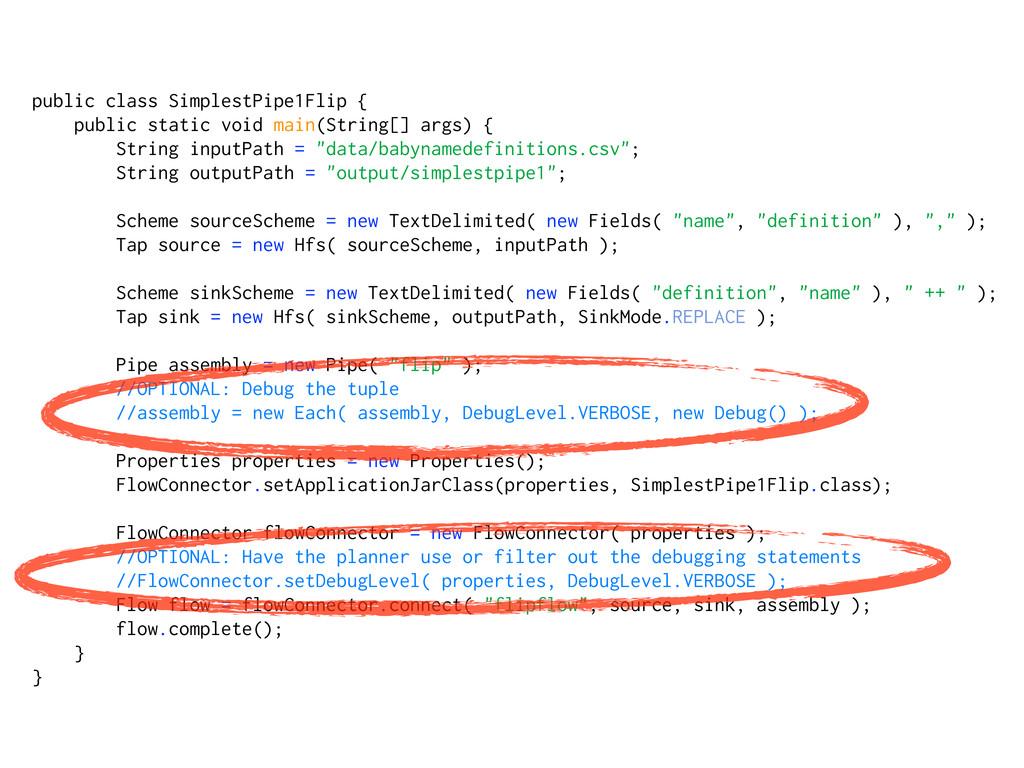 public class SimplestPipe1Flip { public static ...