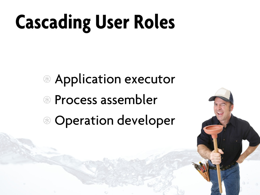 Cascading User Roles ㊌ Application executor ㊌ P...