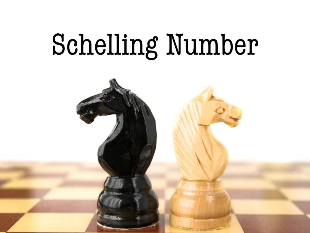 Schelling Number