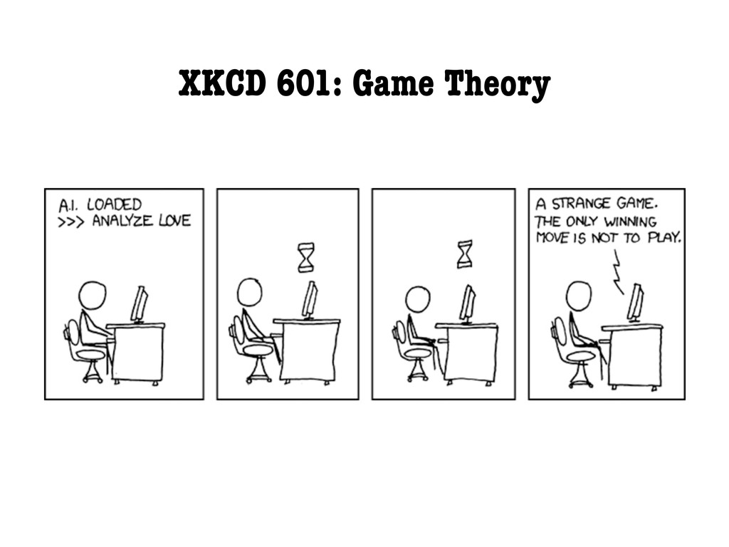 XKCD 601: Game Theory