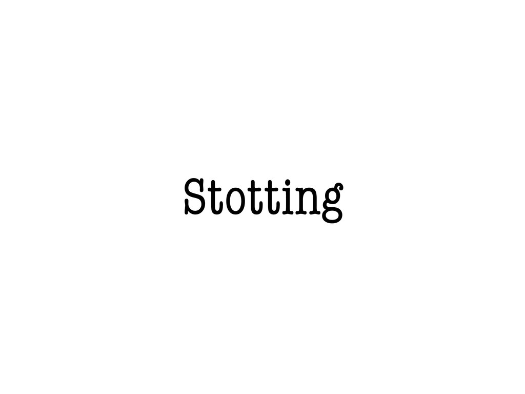 Stotting