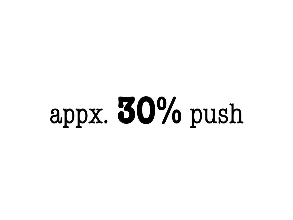 appx. 30% push