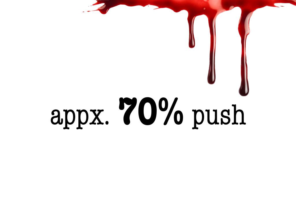 appx. 70% push