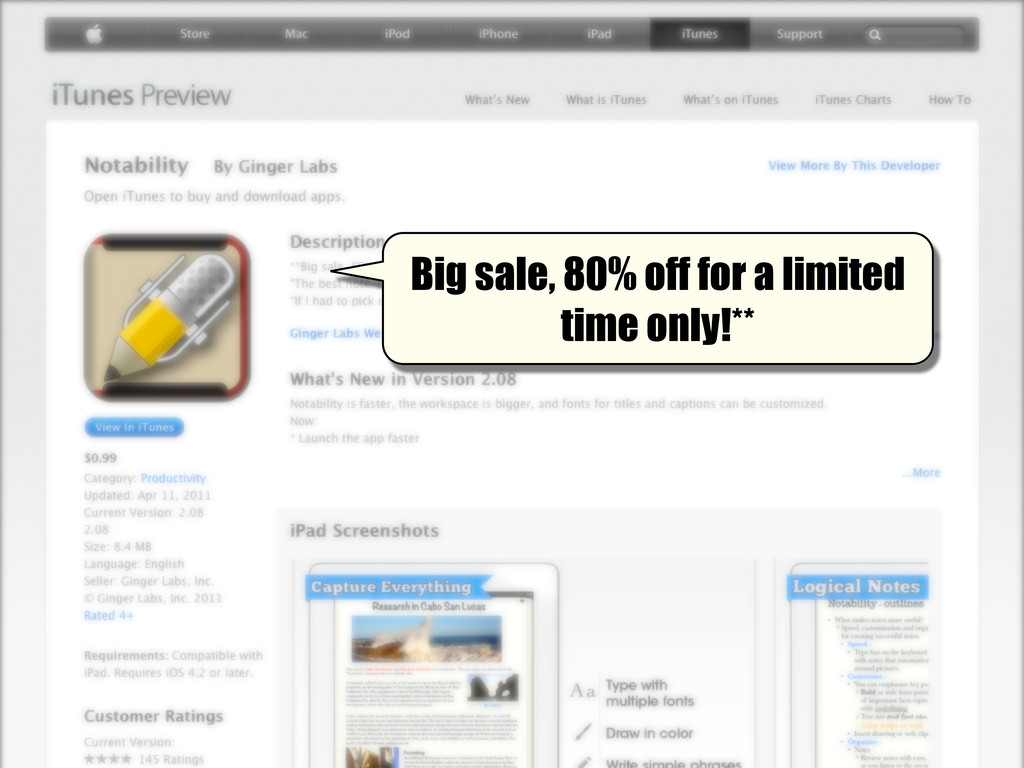 Big sale, 80% off for a limited time only!**