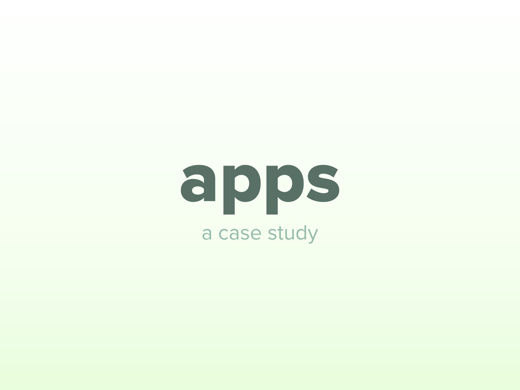 apps a case study
