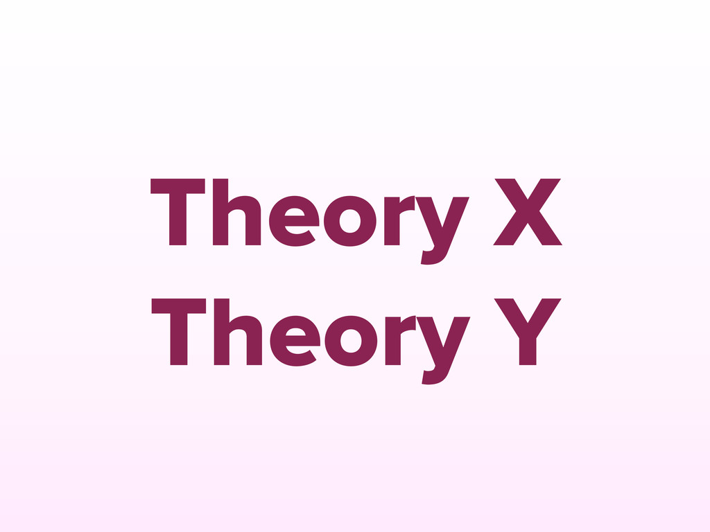Theory X Theory Y