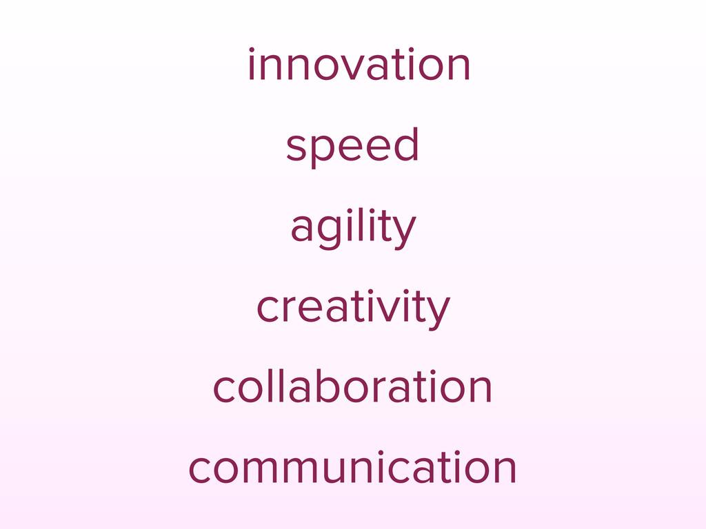 innovation speed agility creativity collaborati...