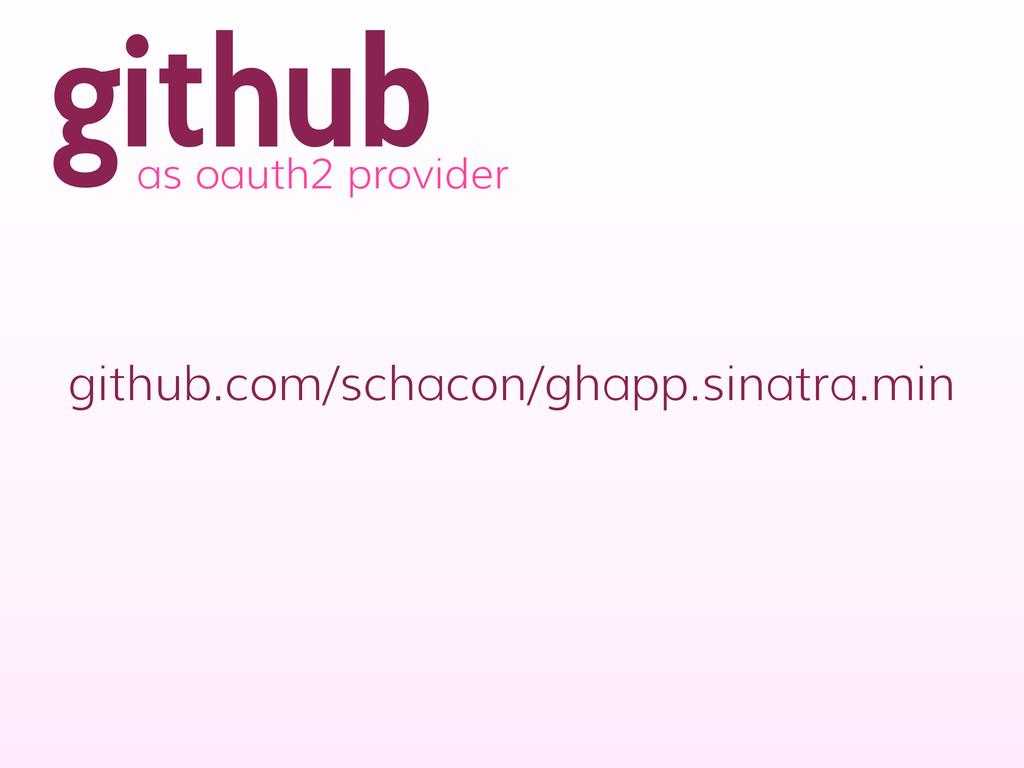 github as oauth2 provider github.com/schacon/gh...
