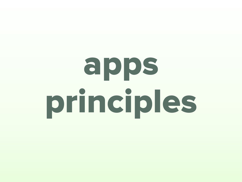 principles apps