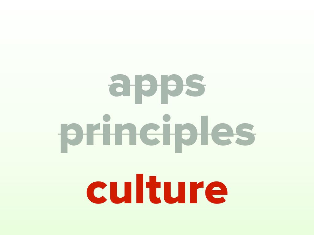 principles apps culture