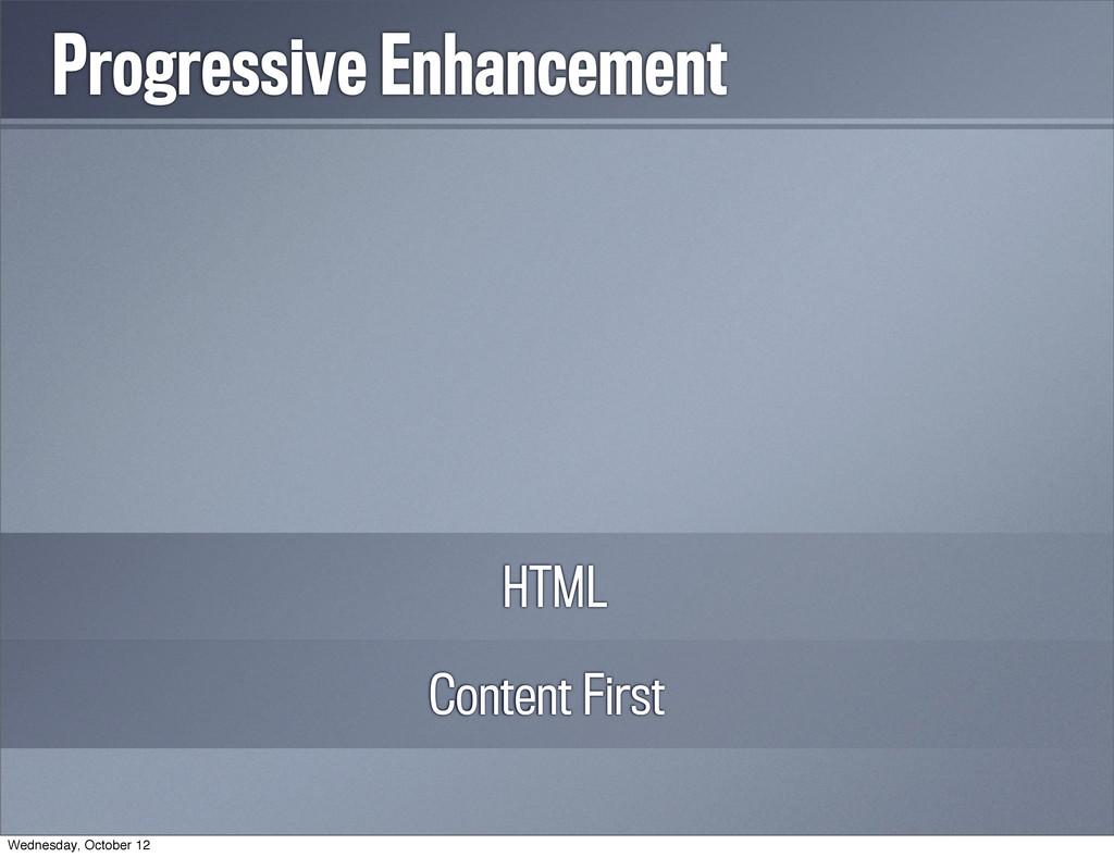 Progressive Enhancement Content First HTML CSS ...