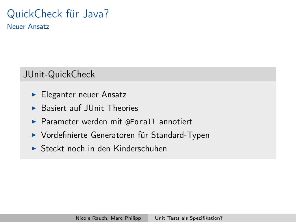 QuickCheck für Java? Neuer Ansatz JUnit-QuickCh...