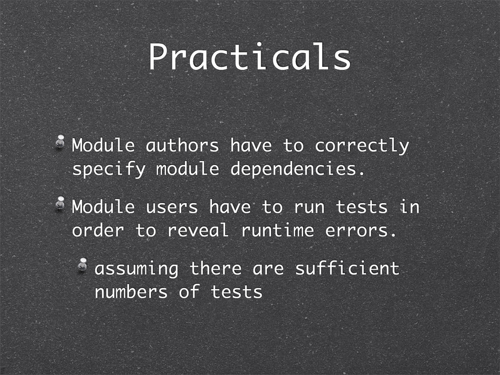Practicals Module authors have to correctly spe...