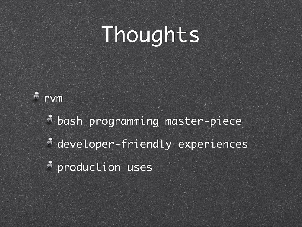 Thoughts rvm bash programming master-piece deve...